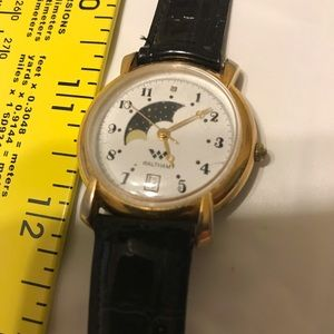 Unisex Mens Waltham vintage Moon Phase Watch